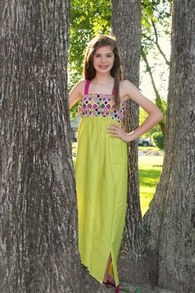 INSTANT DOWNLOAD Tween / Teen Maxi Dress by SeaminglySmitten ...