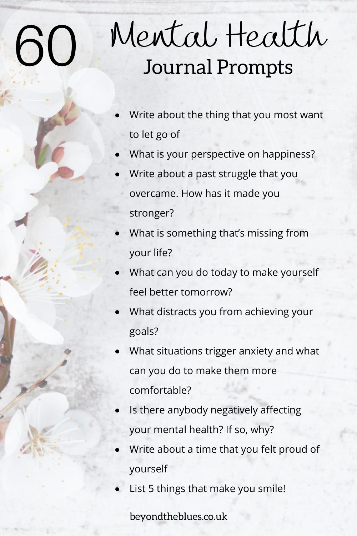 Mental Health Journal Prompts