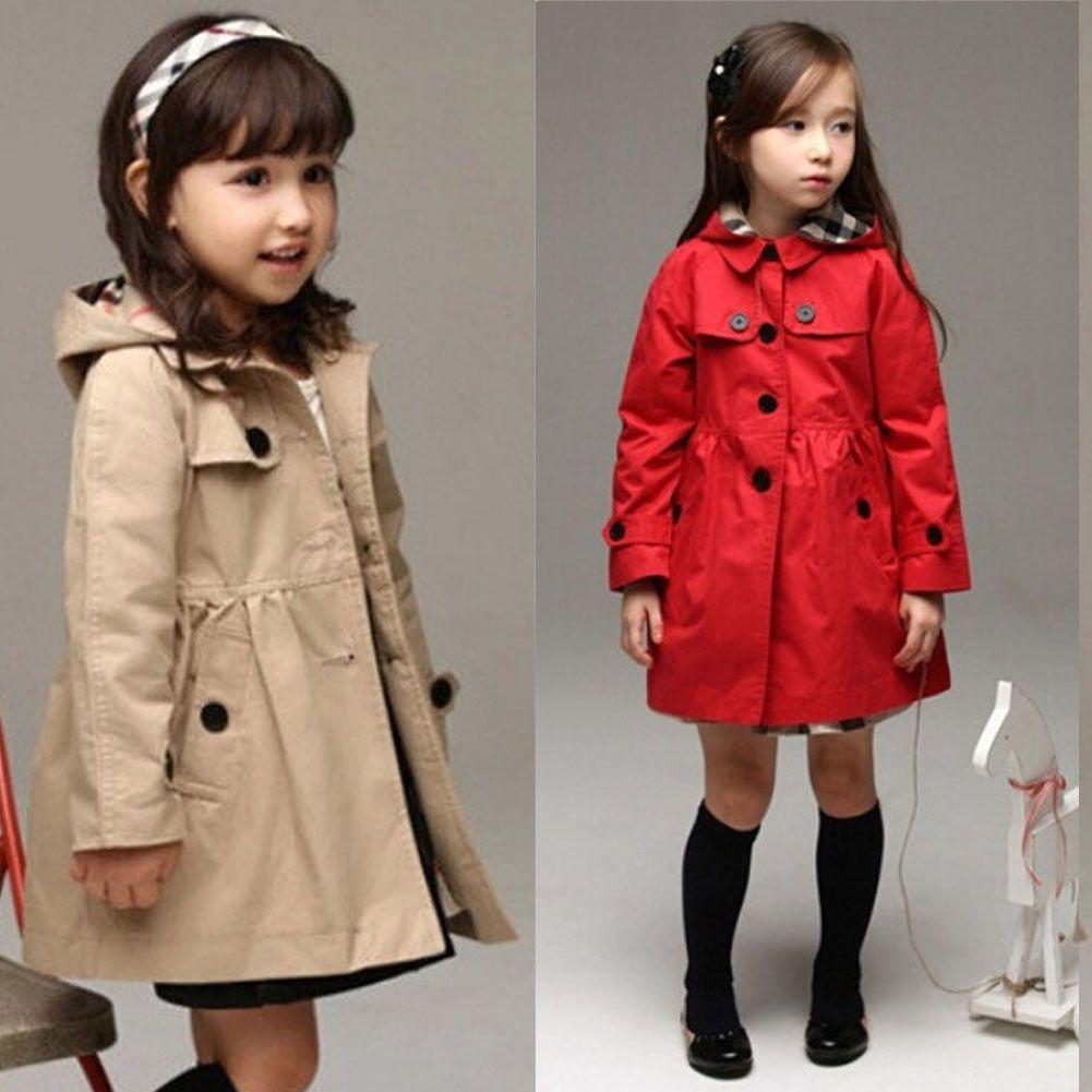 833d47699  14.55 - Warm Baby Toddler Girls Trench Coat Kids Winter Jacket ...