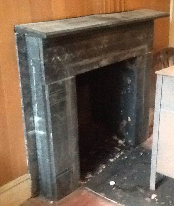 Love It Or List It Finlay Family If We Decide To Redo Our Fireplace Then I Would Love To Mimic This St Painted Stone Fireplace Slate Fireplace Home Fireplace