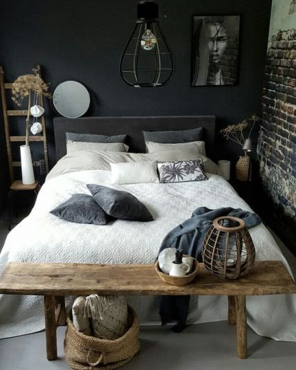 50 Sleigh Bed Inspirations For A Cozy Modern Bedroom: 50 Amazing Industrial Master Bedroom Design Ideas