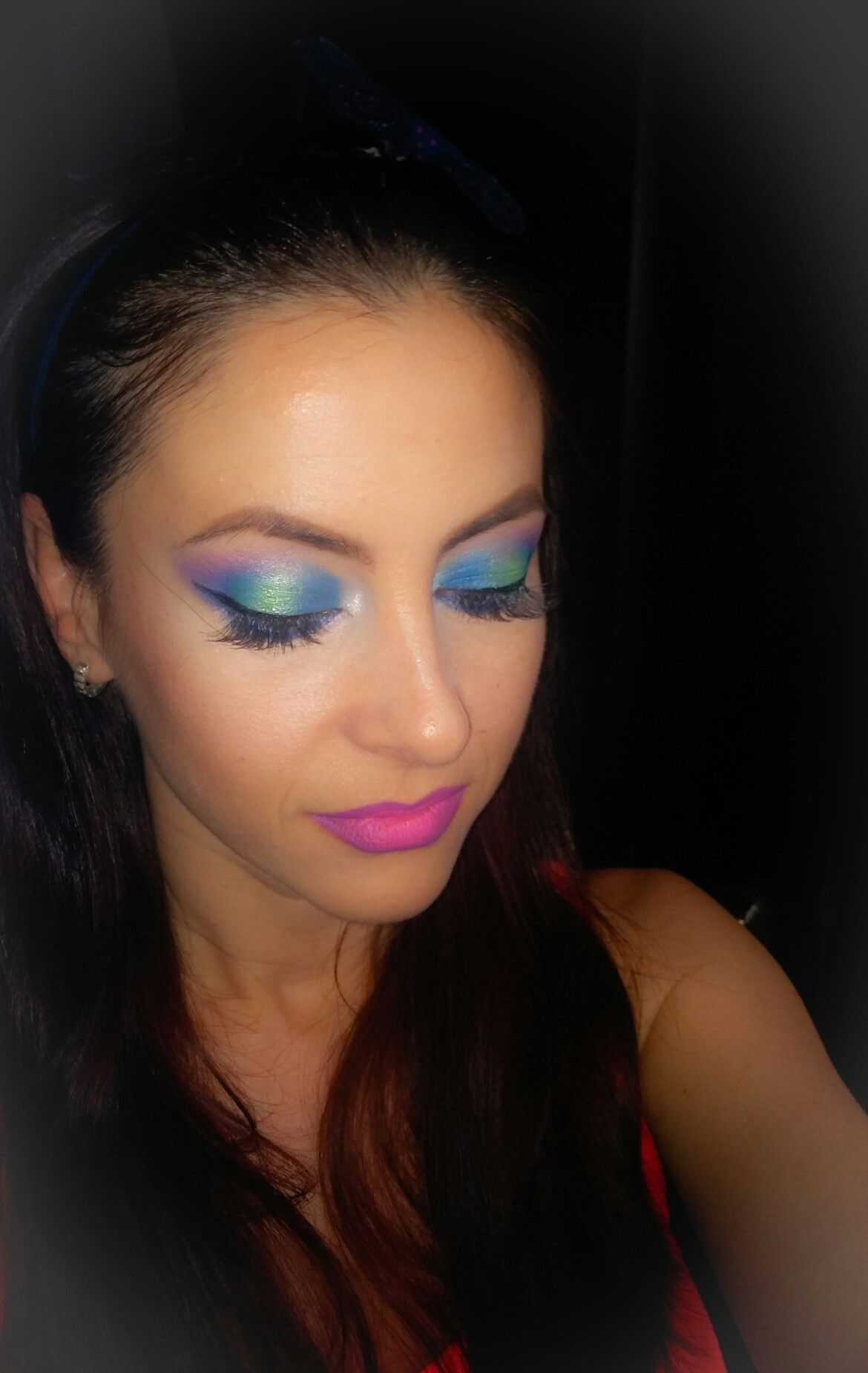 Rainbow makeup by Makeupbyelly.