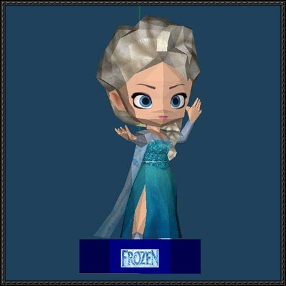 This Papercraft Is A Chibi Elsa The Snow Queen Based On Disneys