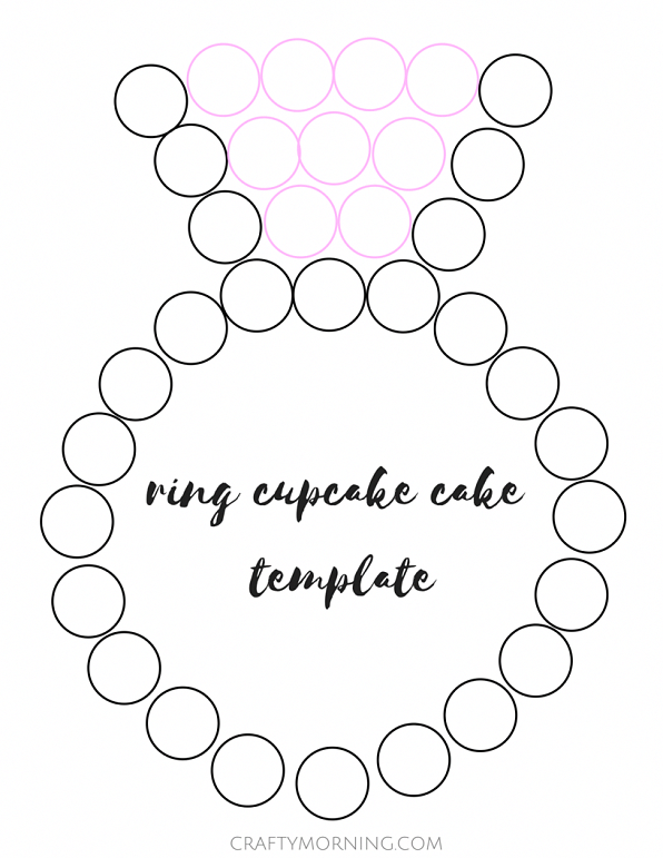here s a cute and cheap way to have an engagement wedding cake use Refill Printer Ink here s a cute and cheap way to have an engagement wedding cake use only cupcakes and arrange them to look like a diamond ring frost 9 cupcakes pink and 26