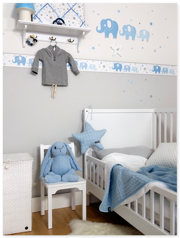 elefanten boys blau grau dinki balloon baby boy pinterest blau grau elefanten und grau. Black Bedroom Furniture Sets. Home Design Ideas