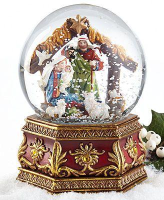 Holiday Lane Snow Globe, Nativity Scene GlobesWater, Snow, Sand