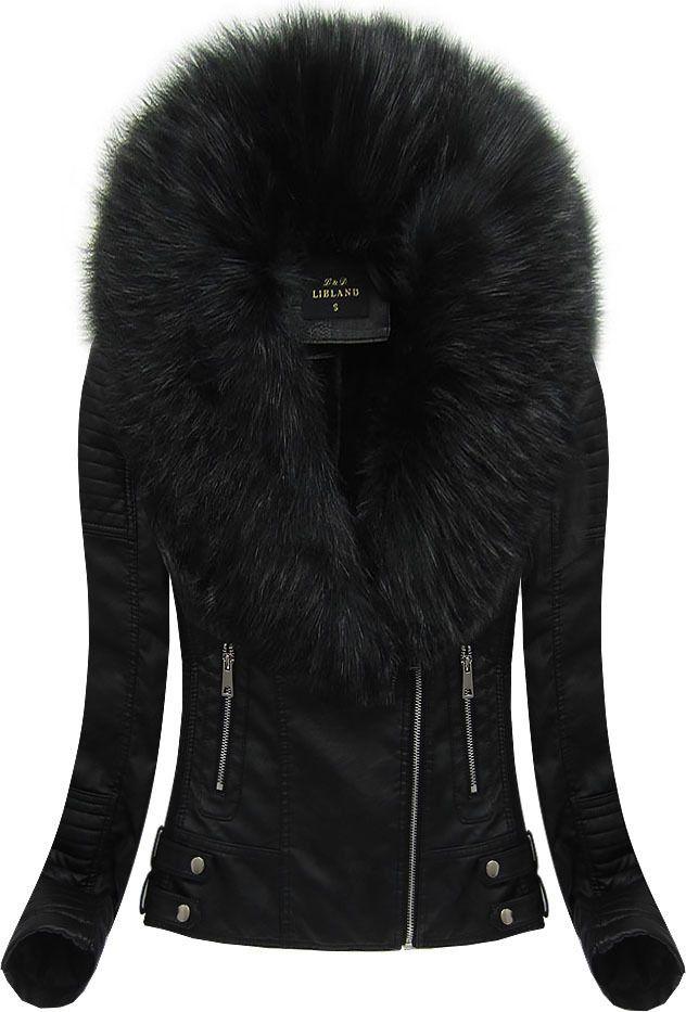 Dámska kožená bunda 5511 čierna  12f4aefb52