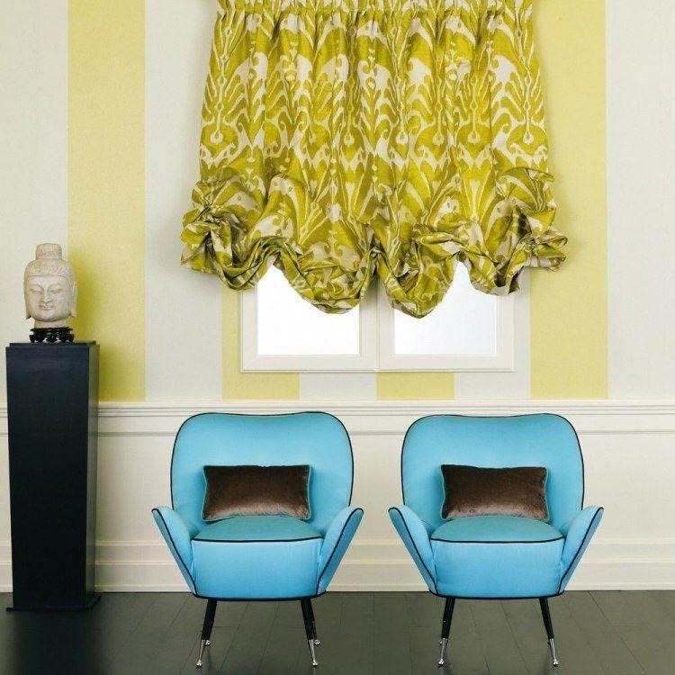 Jacquard Stoff in Senfgelb und Cremeweiß - Ikat von Dedar Design - design mobel wohnzimmer