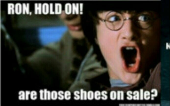 Ron Hold On Are Those Shoes On Sale Harry Potter Quiz Harry Potter Comics Harry Potter Memes Hilarious