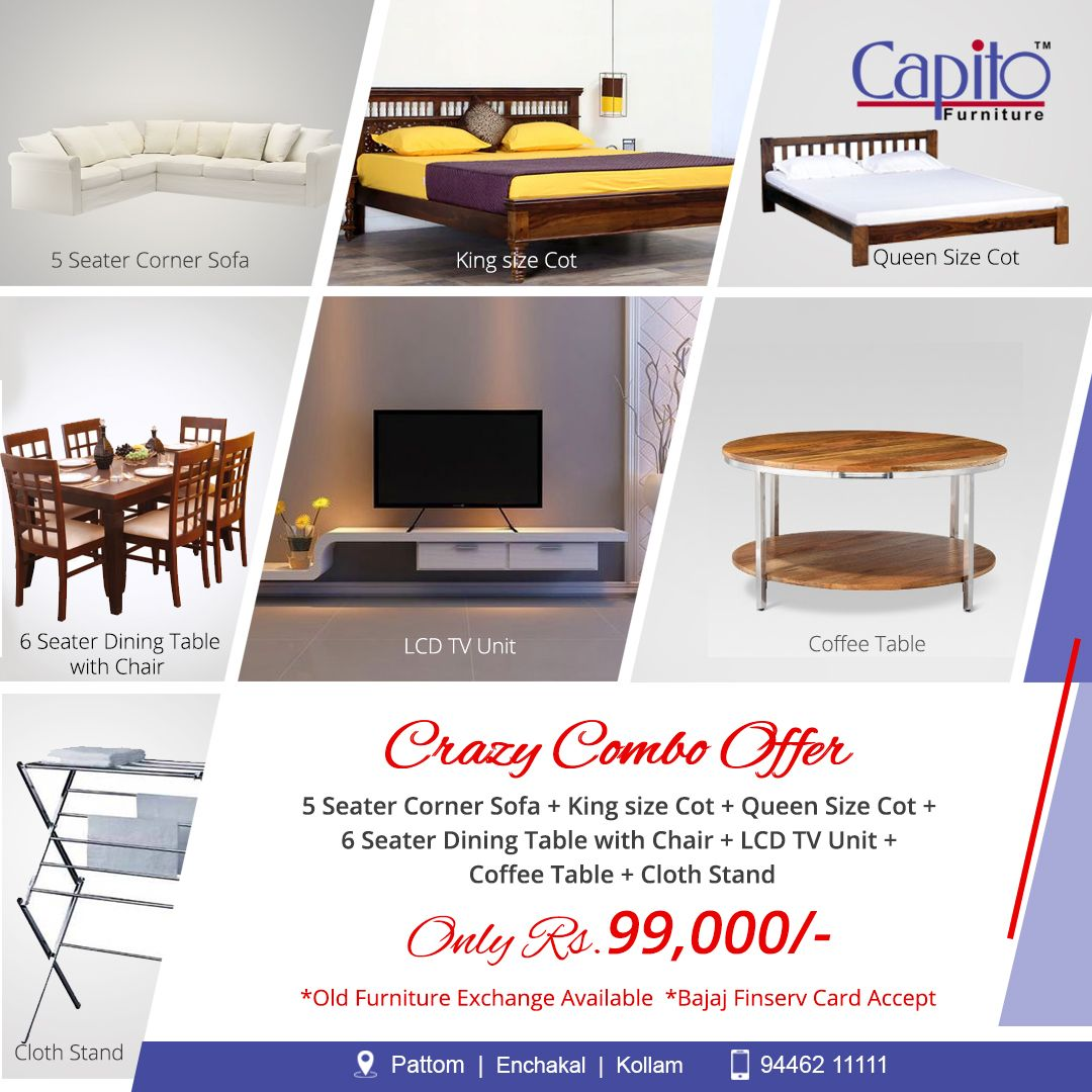 Capito Furniture Dining Table Chairs Furniture 6 Seater Dining Table