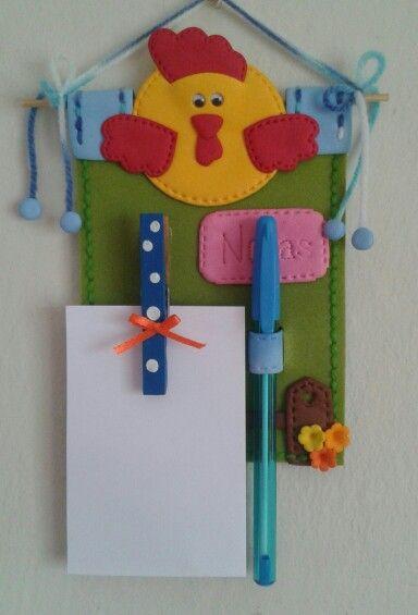 Porta notas country para utilizar y decorar un espacio en - Ideas para decorar la cocina ...