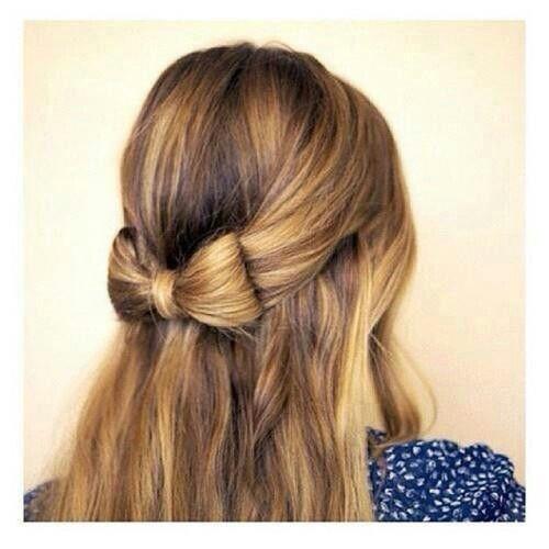 Bow hairstyle Awe I wonder how   Hair hacks, Hair ...