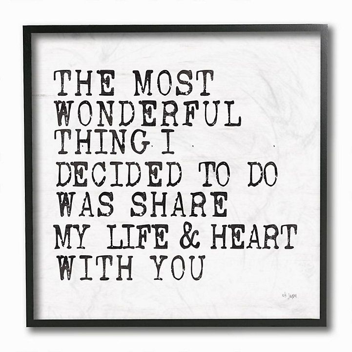 Stupell Home Decor Wonderful Thing to Share My Life Inspirational Love Quote Wall Art