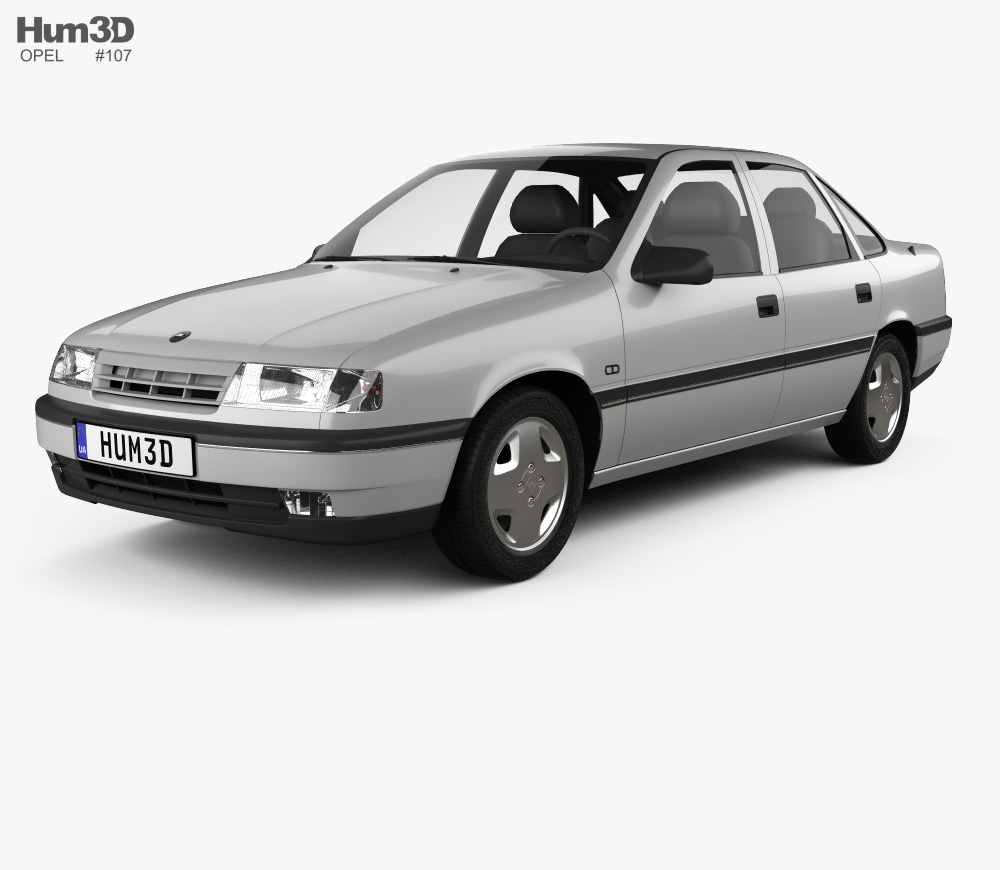 3d Model Of Opel Vectra Sedan 1988 In 2020 Opel Vectra Opel Sedan
