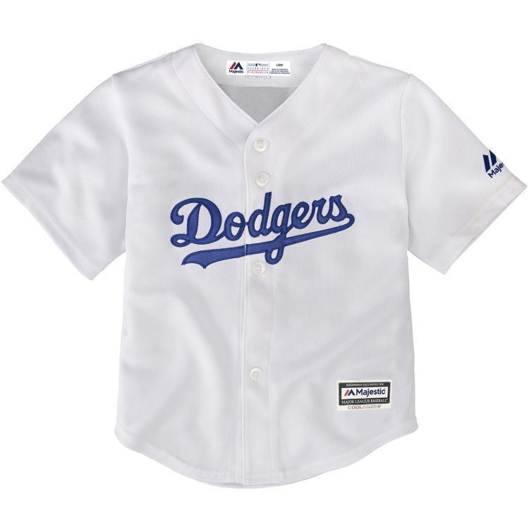 Majestic Infant Replica Los Angeles Dodgers Cool Base Home White Jersey - allaccesssports365.com