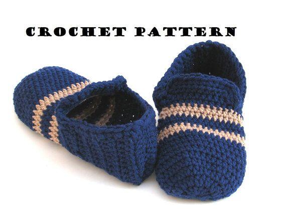 Crochet Pattern Mens Slippers Pdfeasy Great For Beginners