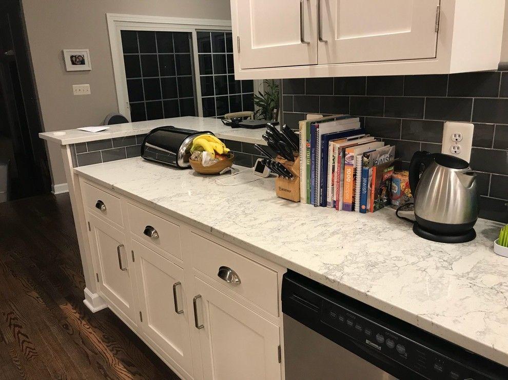 Caesarstone Mountblanc Quartz Kitchen Countertops