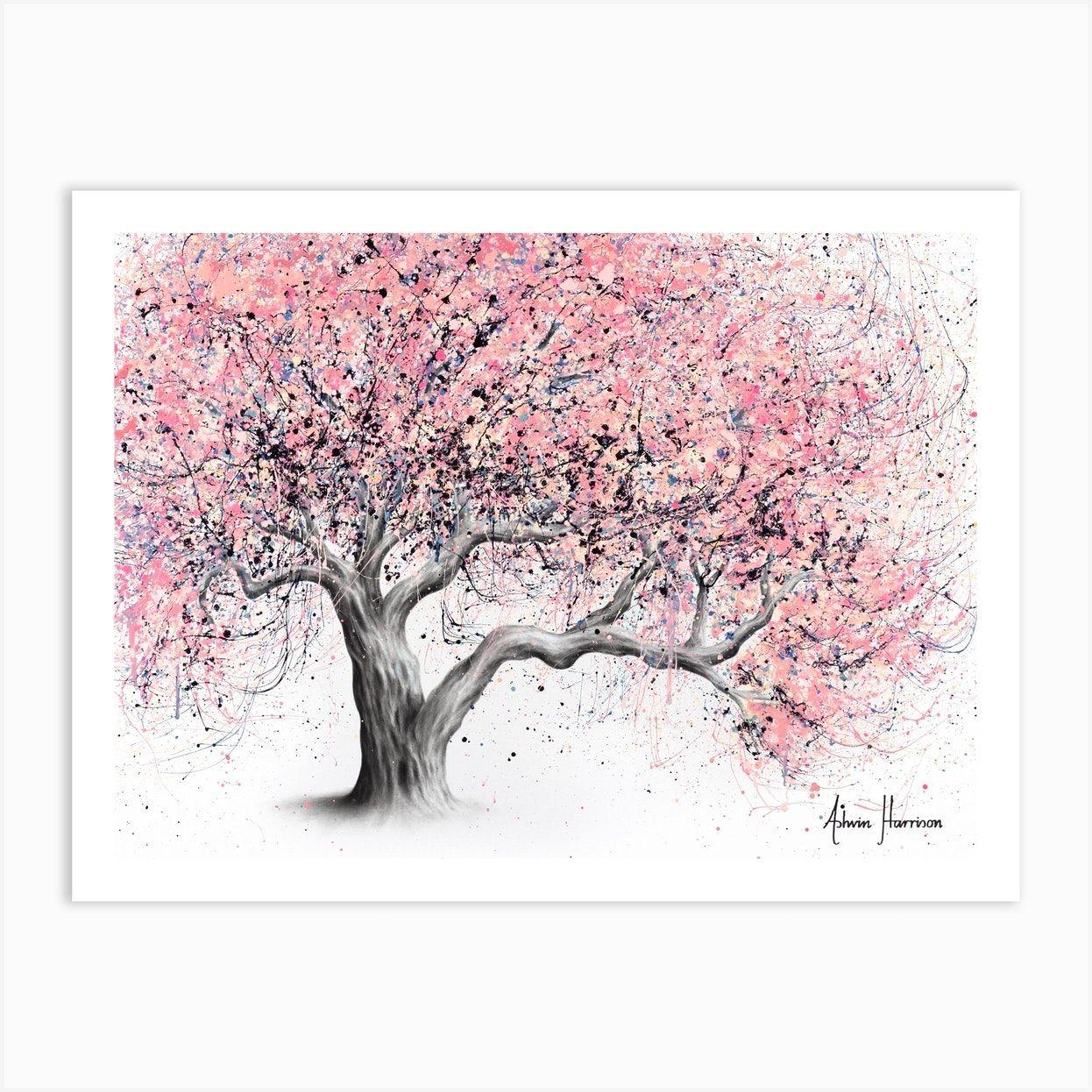 Taffy Blossom Tree Art Print Tree Art Blossom Tree Tattoo Cherry Blossom Tree Tattoo