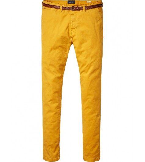 pantalon homme scotch and soda mod le stuart 130991 regular slim jaune moutarde taupe bleu. Black Bedroom Furniture Sets. Home Design Ideas
