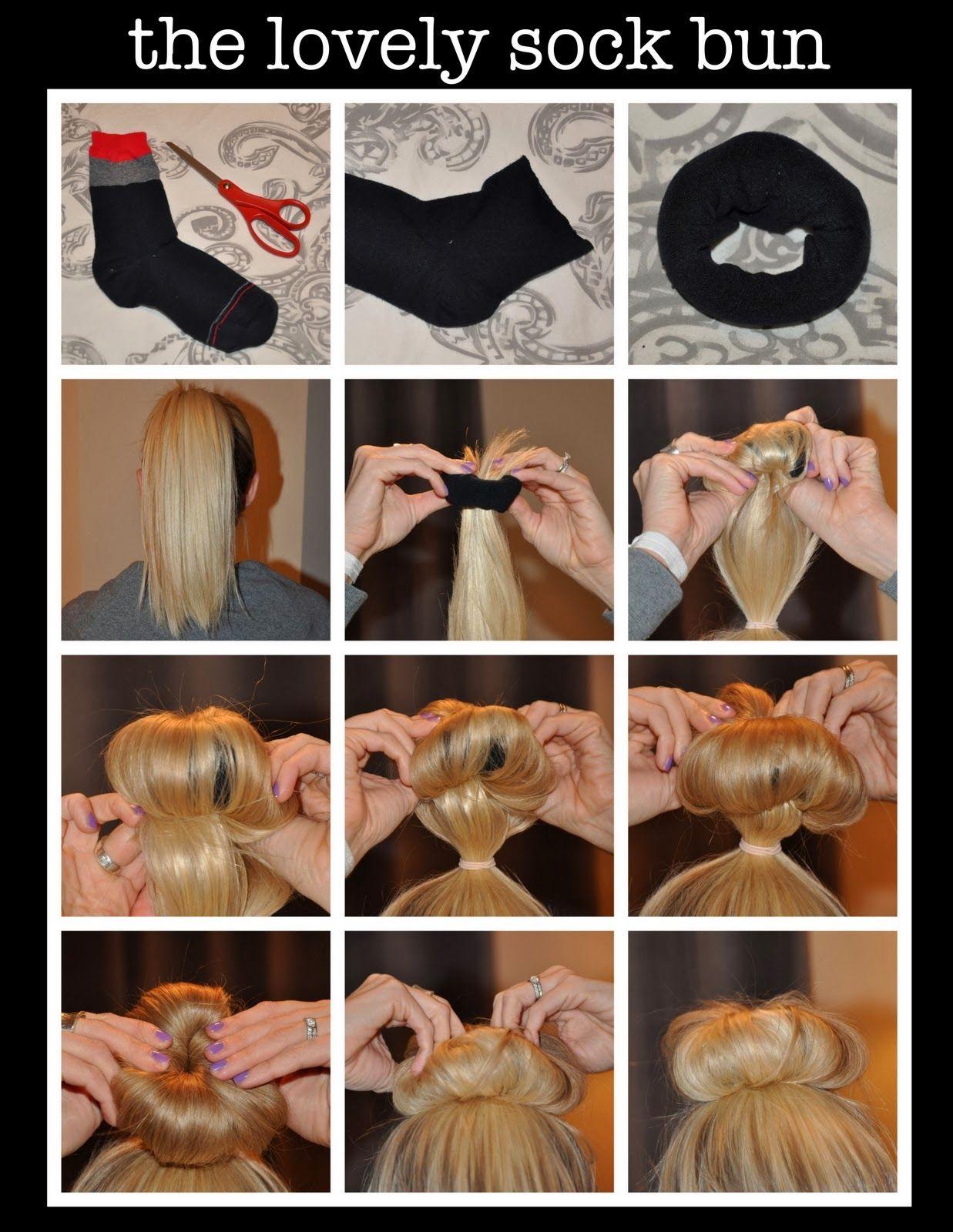 Sock Bun Hairstyle Diy Hairstyles Long Hair Styles Sock Bun