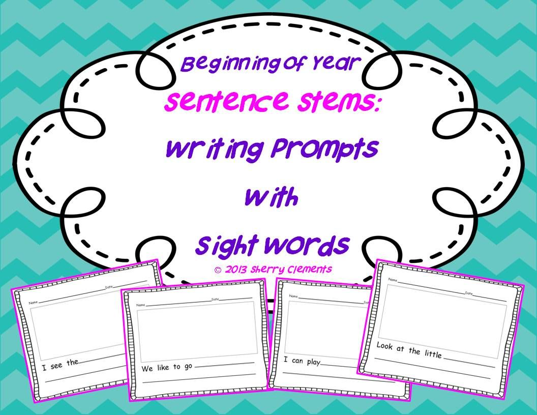 Beginning Of Year Sentence Stems Writing Prompts With