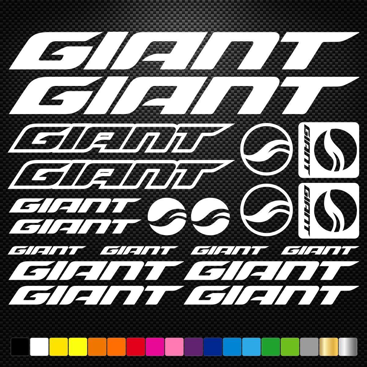 Giant Vinyl Decal Stickers Sheet Bike Frame Cycle Cycling Bicycle Mtb Road Mtblogo Bike Stickers Giant Bikes Bike Frame [ 1200 x 1200 Pixel ]