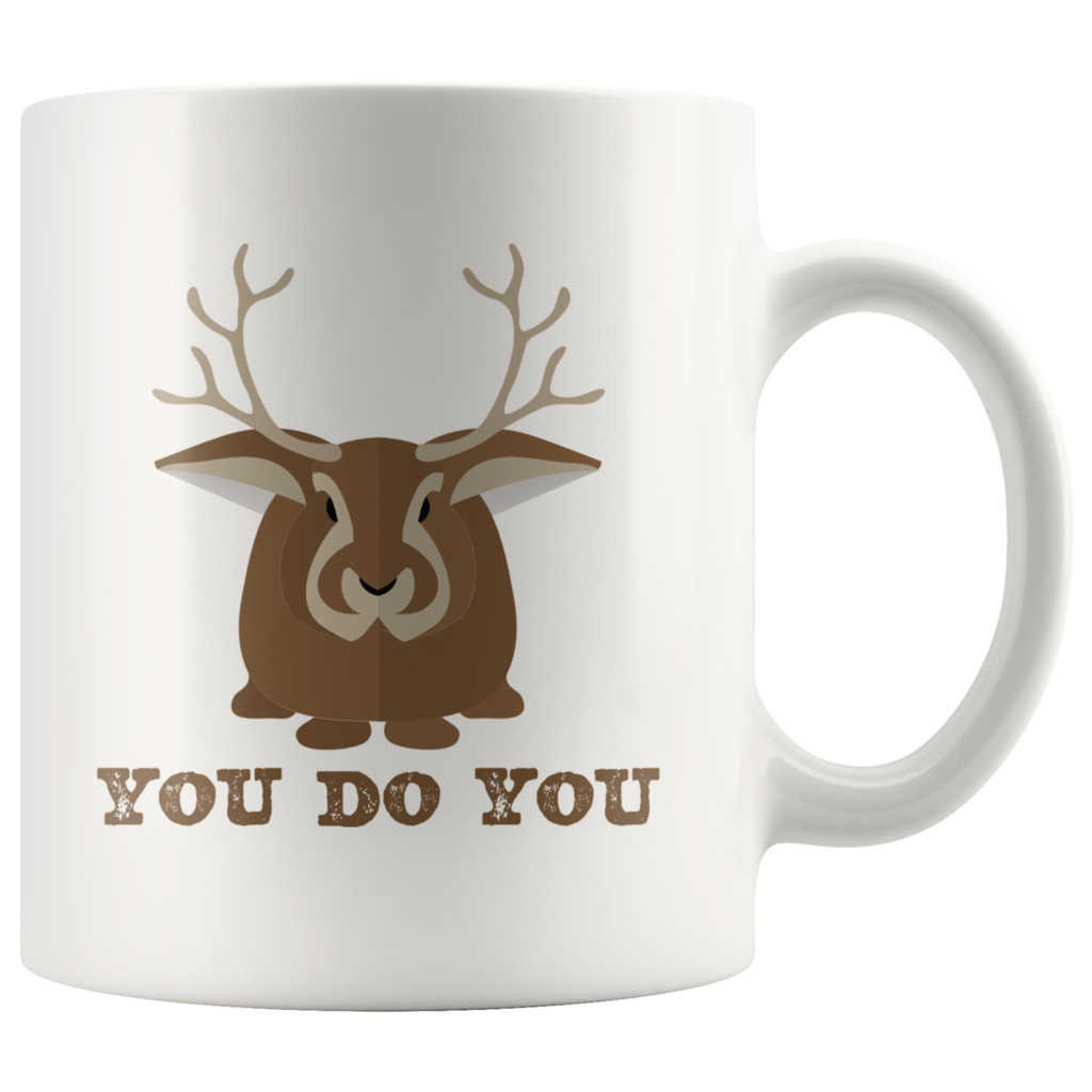 You Do You Coffee Mug Jackalope Cryptid Funny Cute Gift