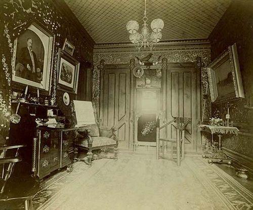 "steelylaceribbon: "" Victorian Parlor, (1880ies) """