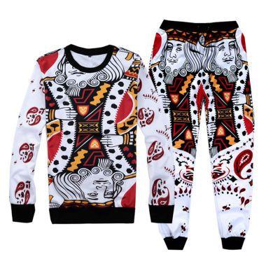 Mens 3D Print Tracksuit,2 Piece Set Men Casual Hoodies and Sweatpants Suit Funny Sweatshirt Track Suit Sport Suit Outfits