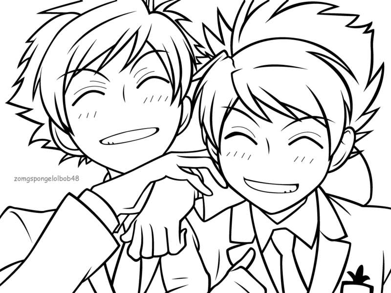 ouran highschool coloring pages - photo#29