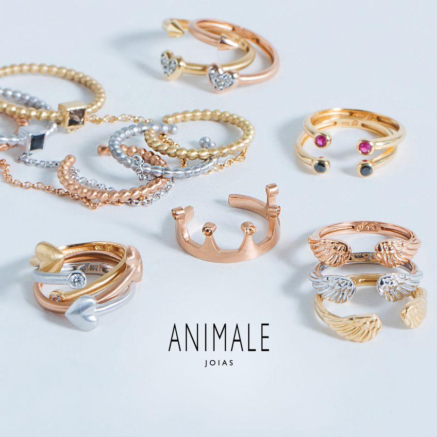 7365f838cb8 Seleção especial Dia dos Namorados  aneis de falange. Animale Joias ...