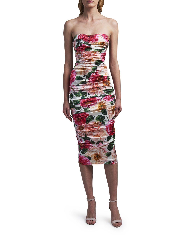 Dolce Gabbana Strapless Sweetheart Midi Dress Midi Dress Latest Fashion Dresses Dolce And Gabbana [ 1500 x 1200 Pixel ]