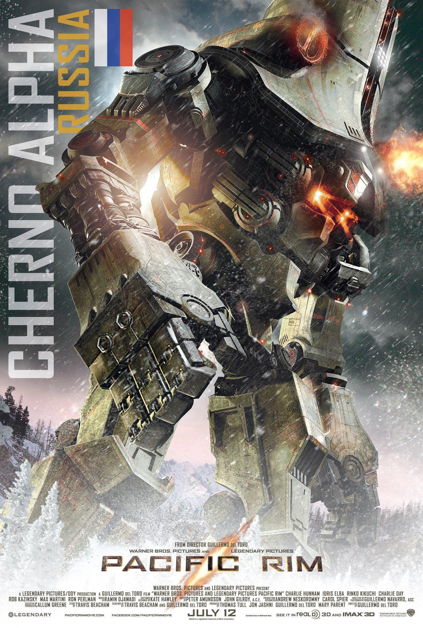 PACIFIC RIM Character Posters, Coyote Tango, Cherno Alpha, Crimson Typhoon and Striker Eureka
