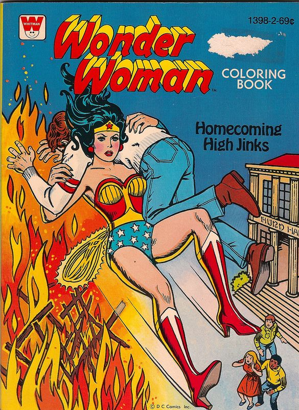 Wonder Woman Coloring Book 1 Front (Whitman 1979 ...