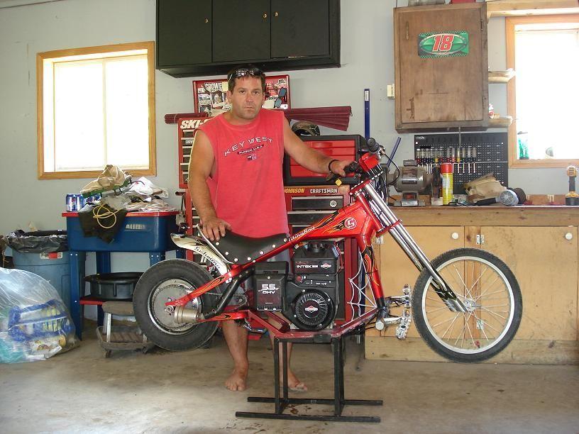 Walmart Bicycle Converted to a Chopper Minibike | ATV-Go