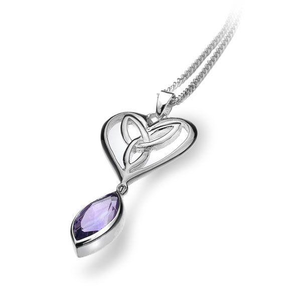 Celtic Heart Pendant - silver pendants - Silver by Mail Website