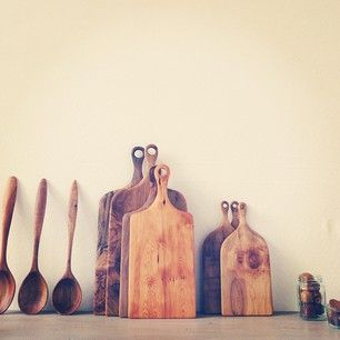wooden boards & spoons