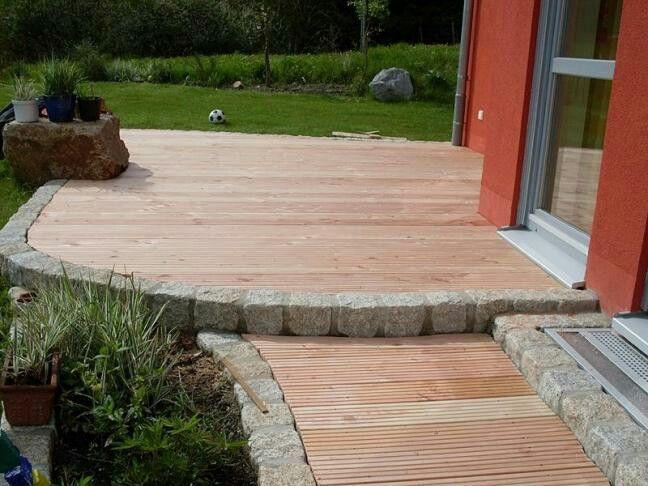 Deck With Granit Border Innenhofgestaltung Deck With