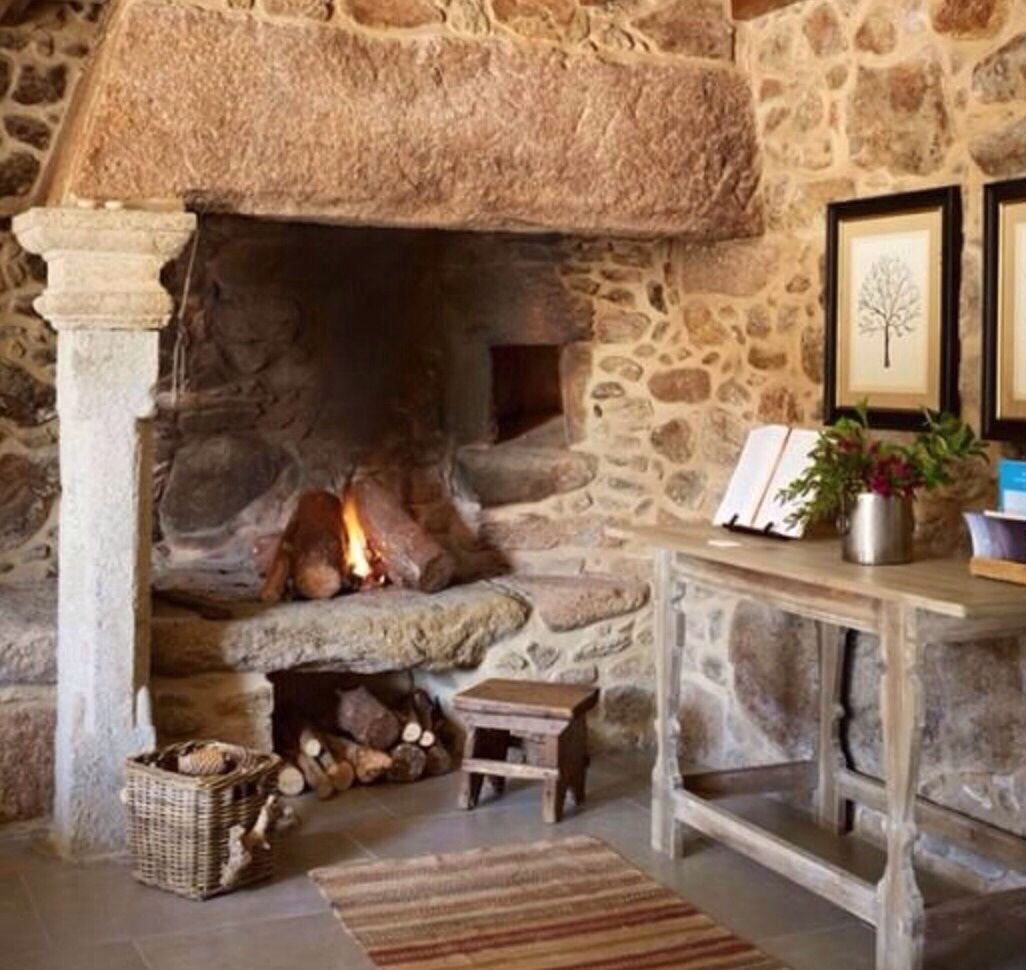 Fabulous period fireplace french country cottage for French country stone fireplace