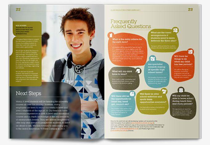 Medina  Carisbrooke College Prospectus Design   Walsworth