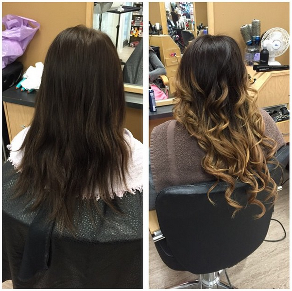 Great Before And After Using Babe Hair Extensions For This Gorgeous