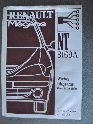 Renault Megane Wiring Diagrams Manual 1999 7711297042 Nt8169a Renault Megane Manual Car Renault