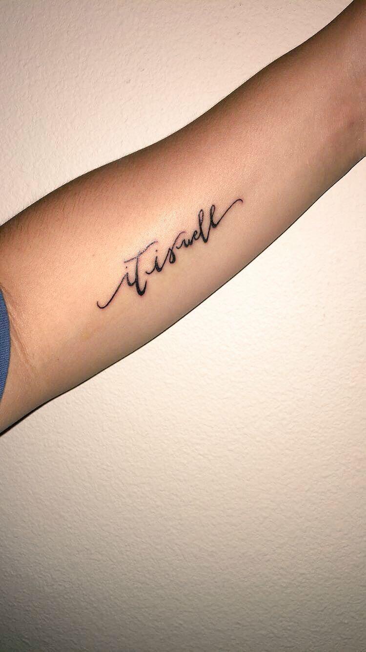 """My first tattoo! """"it is well"""" Wrist tattoos, Word"""