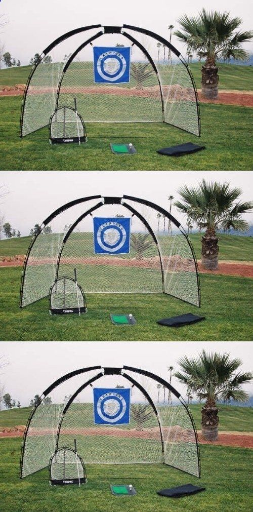 Golf Net - Nets Cages and Mats 50876: 3 In 1 Golf Practice ...