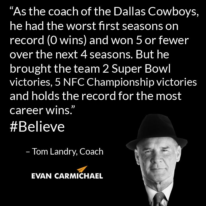 As The Coach Of The Dallas Cowboys He Had The Worst First Seasons On Record 0 Wins And Won 5 Or Fewer Over The Next 4 Sea Dallas Cowboys Tom Landry Cowboys
