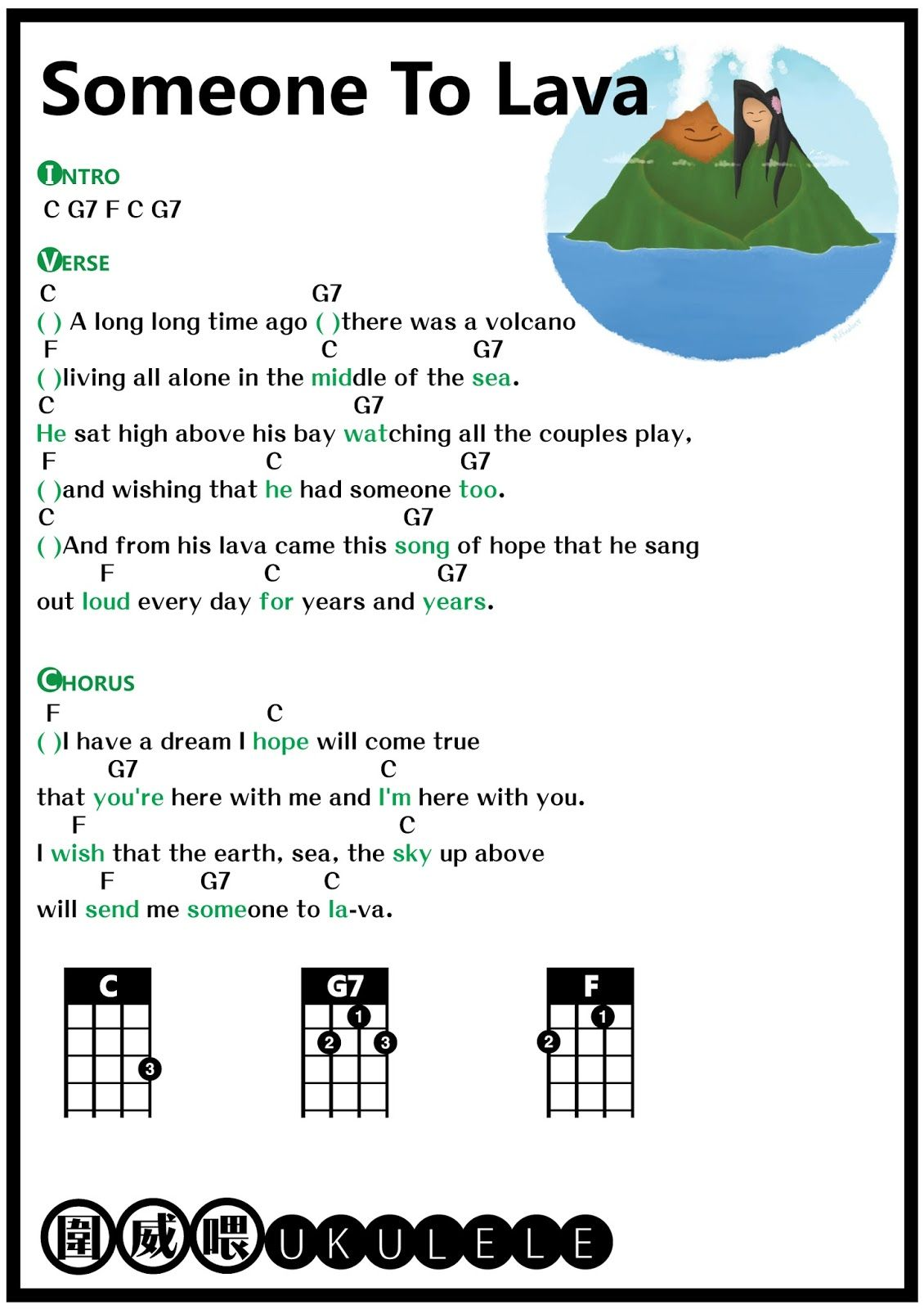 free printable ukulele chords freedom fighters freedom » [HD Images ...