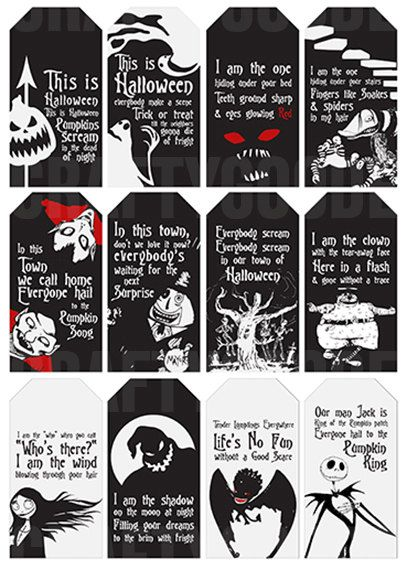this is halloween the nightmare before christmas gift tags