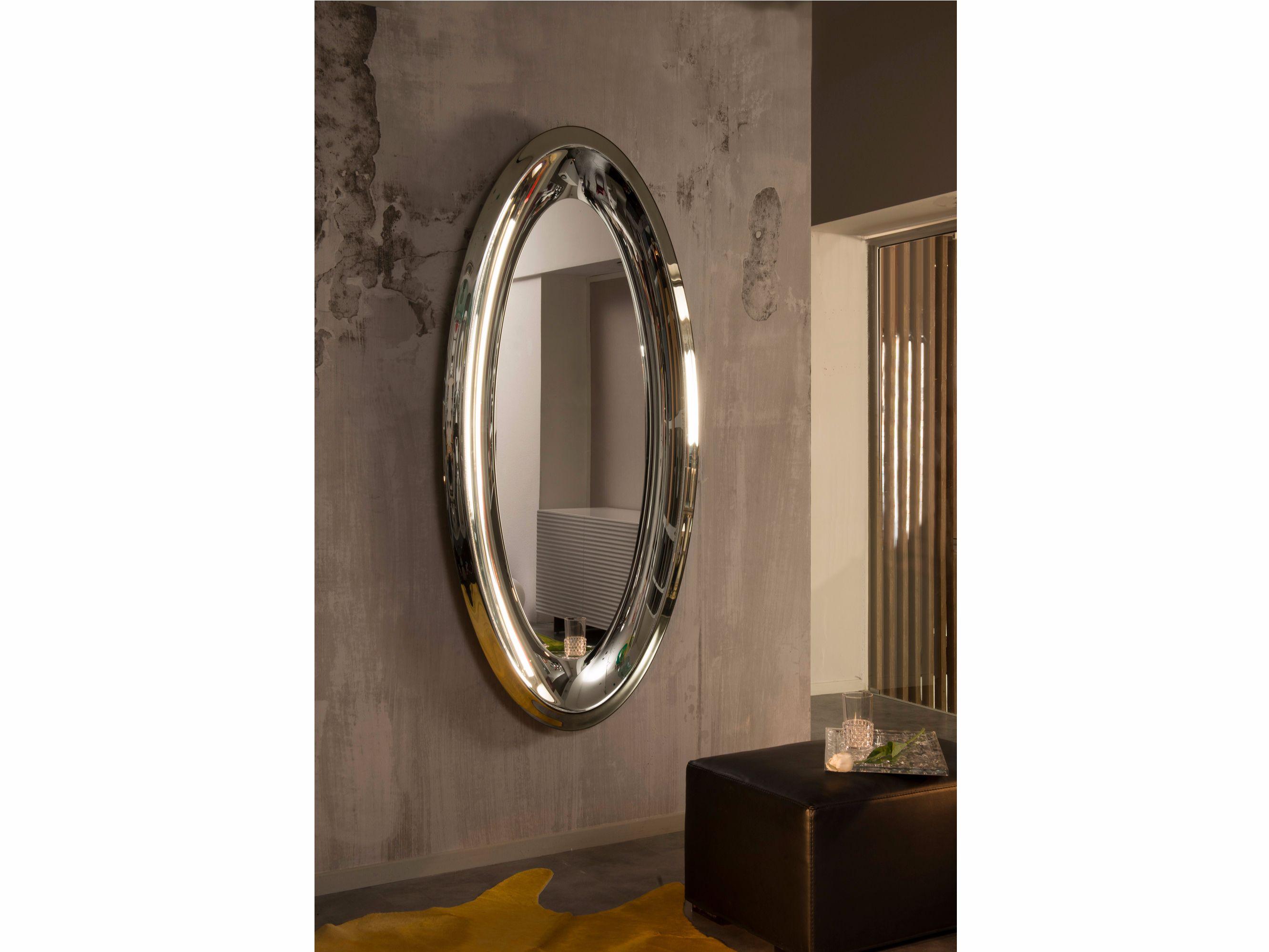 Pareti A Specchio Design specchio ovale a parete con cornice aqua by riflessi design