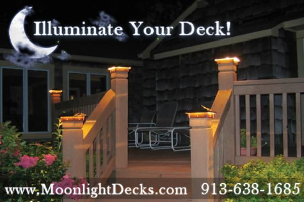 Deck lights deck lighting low voltage lighted post caps at night deck lighting deck lights lighted post caps aloadofball Gallery