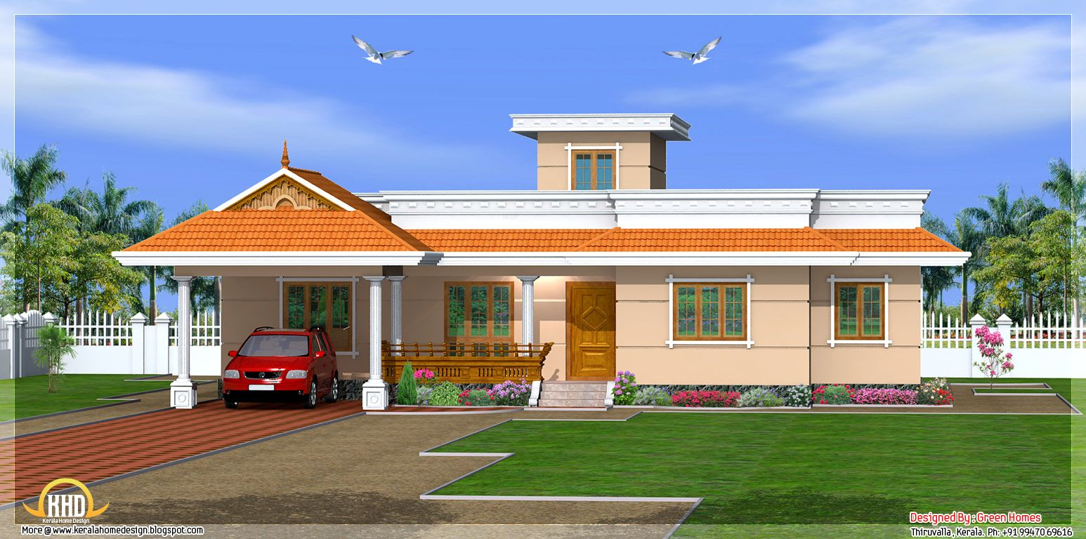 Kerala style story house design green homes thiruvalla kerala sq ft house provision stair future expansion · indian house planspainting bedrooms3
